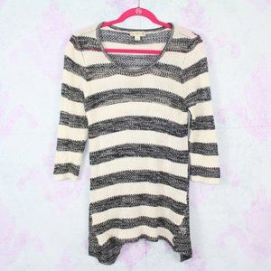 Live And Let Live Medium Stripe Knit Tunic Boho